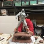 Skeletor's base in progress